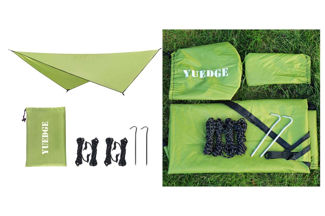 YUEDGE Easy Set Up Portable Waterproof Camping Tarp