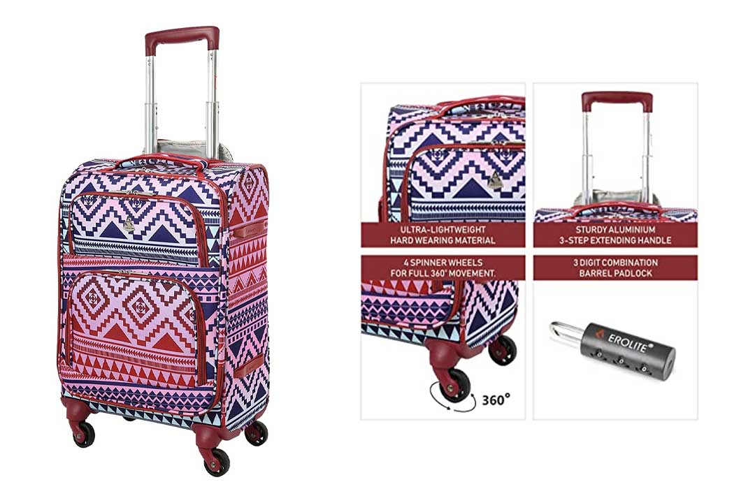 """Aerolite 22x14x9"""" Carry On MAX Lightweight Upright Travel Trolley Bags"""