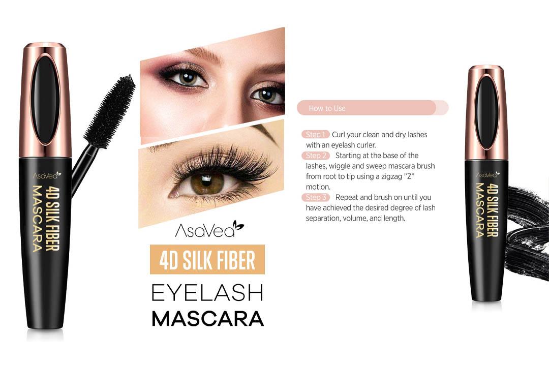 AsaVea 4D Silk Fiber Lash Mascara Waterproof