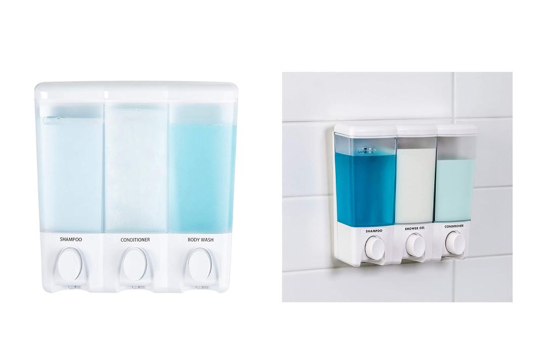 Better Living Products Clear Choice Dispenser Three Chamber Shower Dispenser
