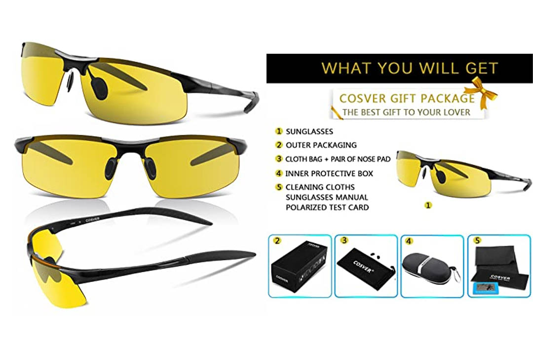 COSVER Men's Polarized Sunglasses