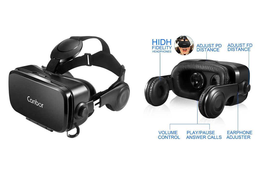 Canbor VR Headset, Virtual Reality Headset 3D VR Goggles Glasses