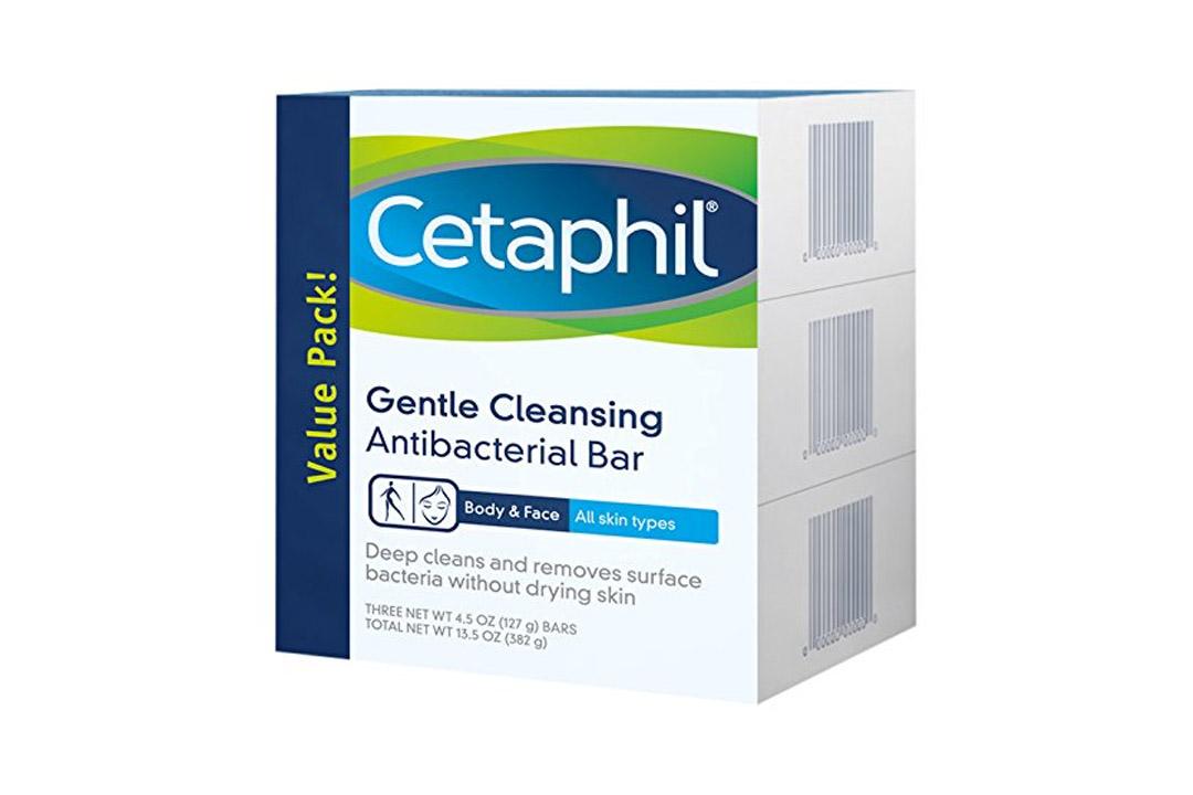 Cetaphil 3 Piece Gentle Cleansing Antibacterial Bar Value Pack