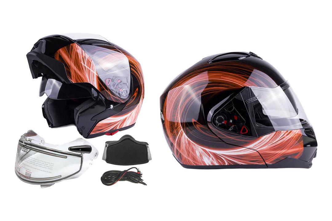 Dual visor flip up Modular Full-Face helmet