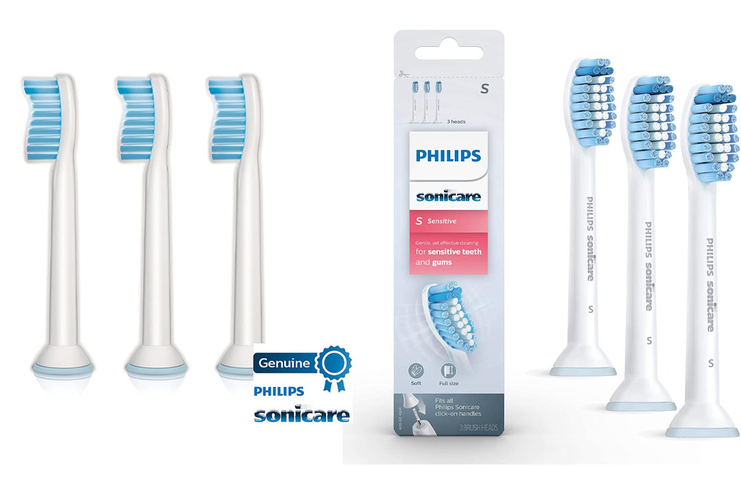 Genuine Philips Sonicare Sensitive replacement toothbrush heads