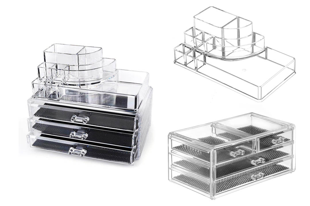 Home-it Clear acrylic makeup organizer cosmetic organizer