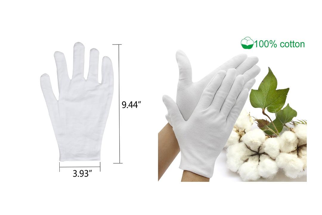 Jaciya Moisturizing Gloves Jaciya 10 Pairs Cotton Hand Spa Gloves