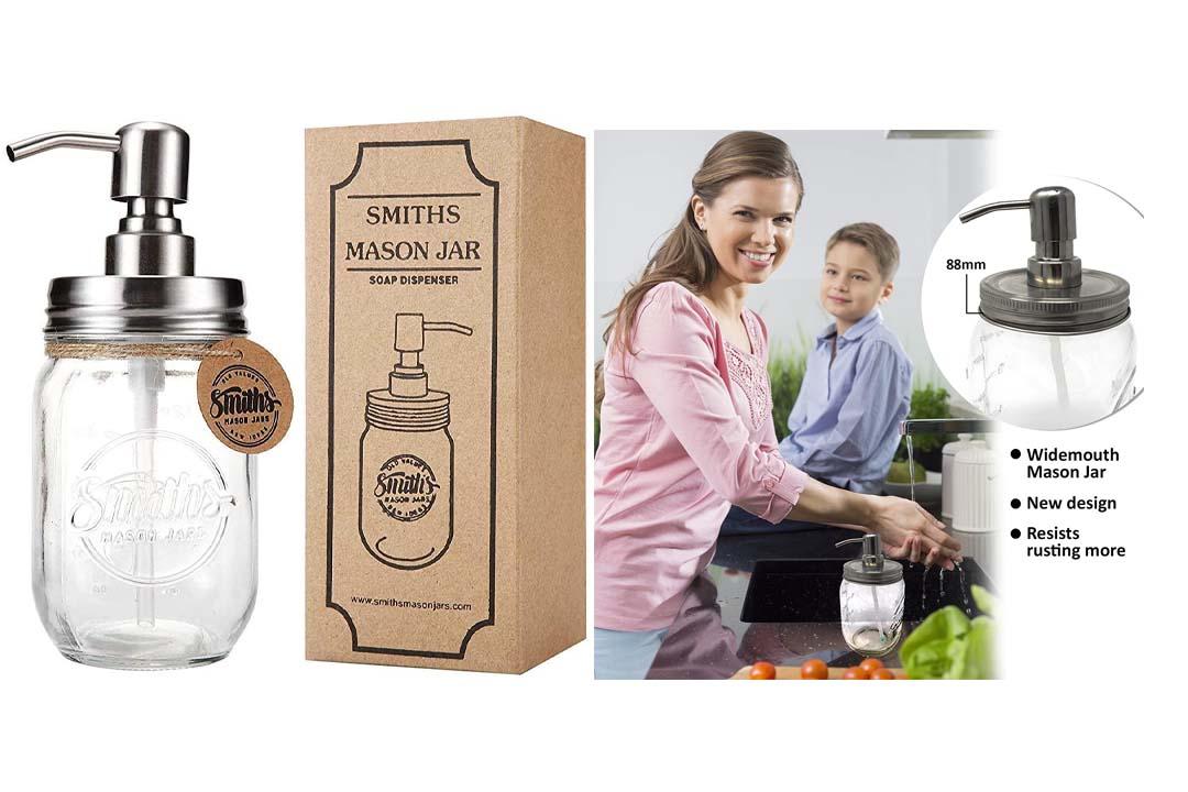 Mason Jar Soap / Liquid Dispenser By Smiths