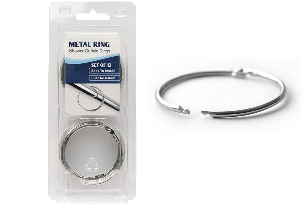 Maytex Mills Metal Circular Shower Ring In Chrome