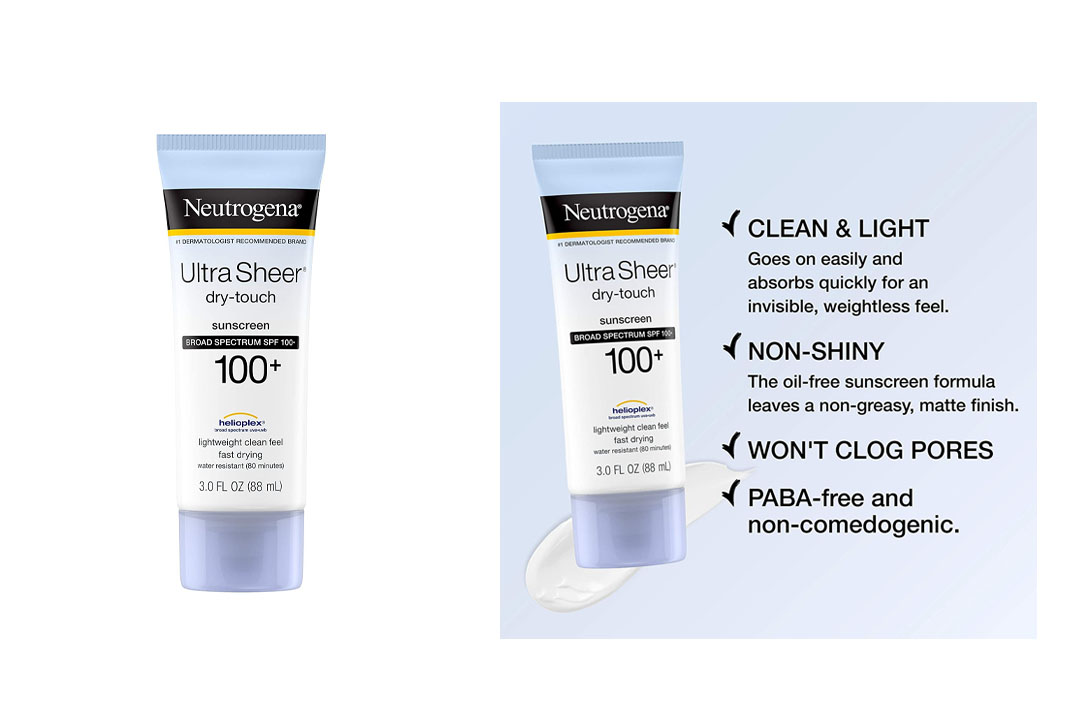 Neutrogena Ultra Sheer Dry-Touch Sunscreen Broad Spectrum SPF 100