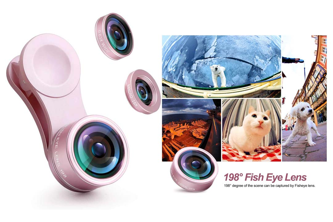 OldShark S1 Phone Camera Lens Kits 180 Degree Fisheye Lens