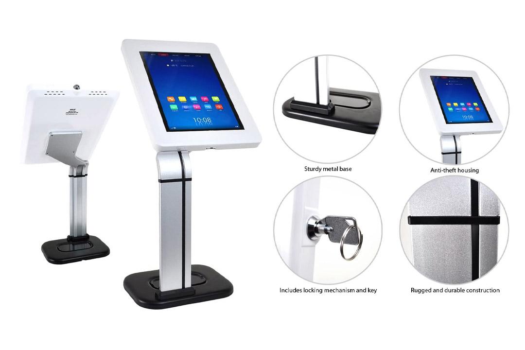 Pyle PSPADLK14 iPad/Tablet Kiosk Public Display Stand Mount