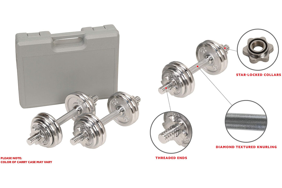 LBS Adjustable Cast Iron Dumbbells Set