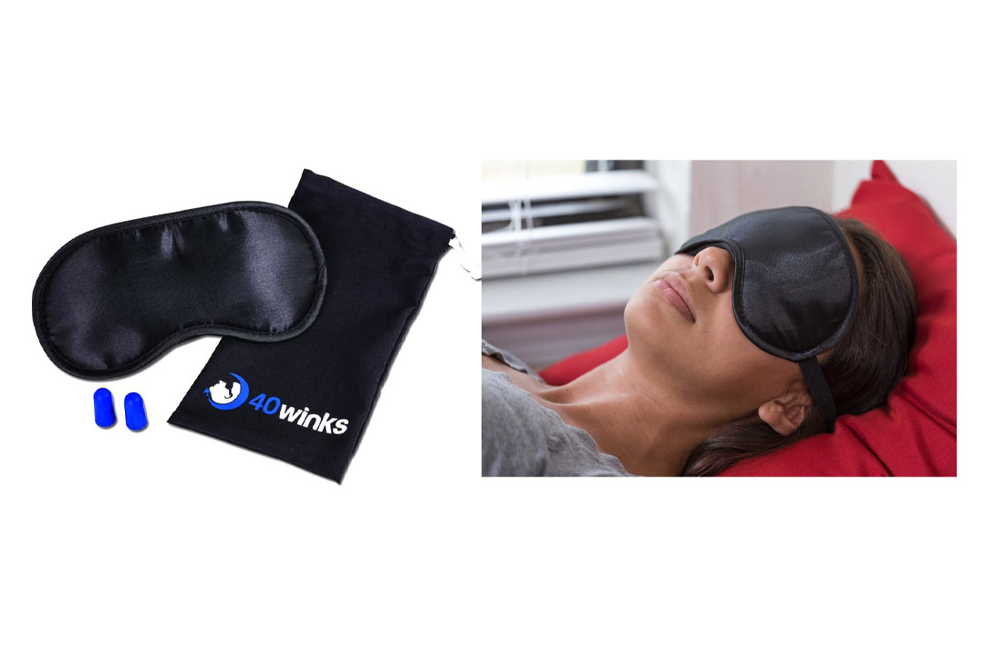 Super Silky Super-Soft Sleep Mask With Free Ear Plugs