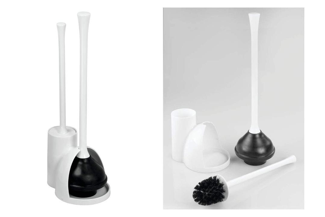 Toilet Bowl Brush and Plunger Set