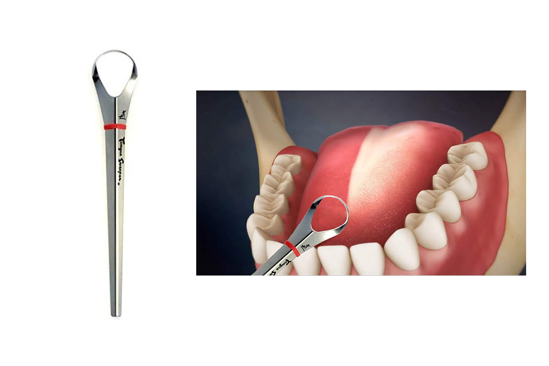 Tongue Sweeper Model P Stainless Steel Tongue Cleaner