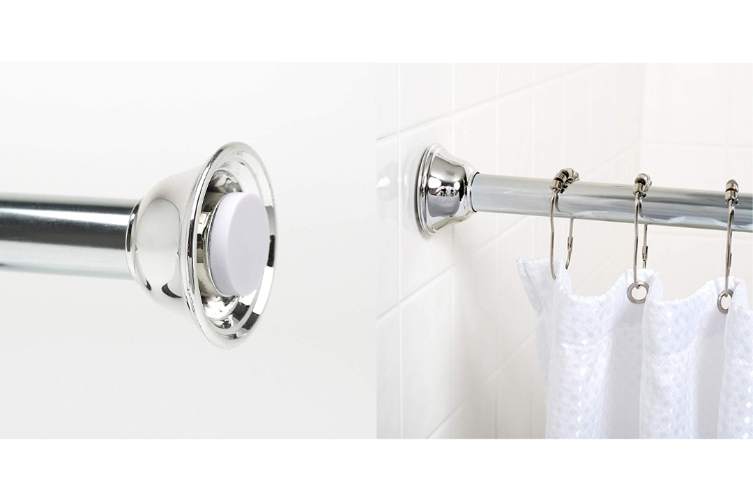 Zenna Home 771SS, Tension Shower Curtain Rod