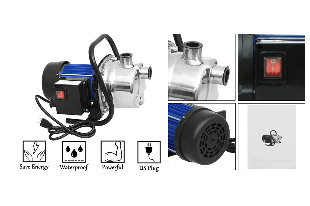 1.6HP Stainless Shallow Well Pump Water Pumps