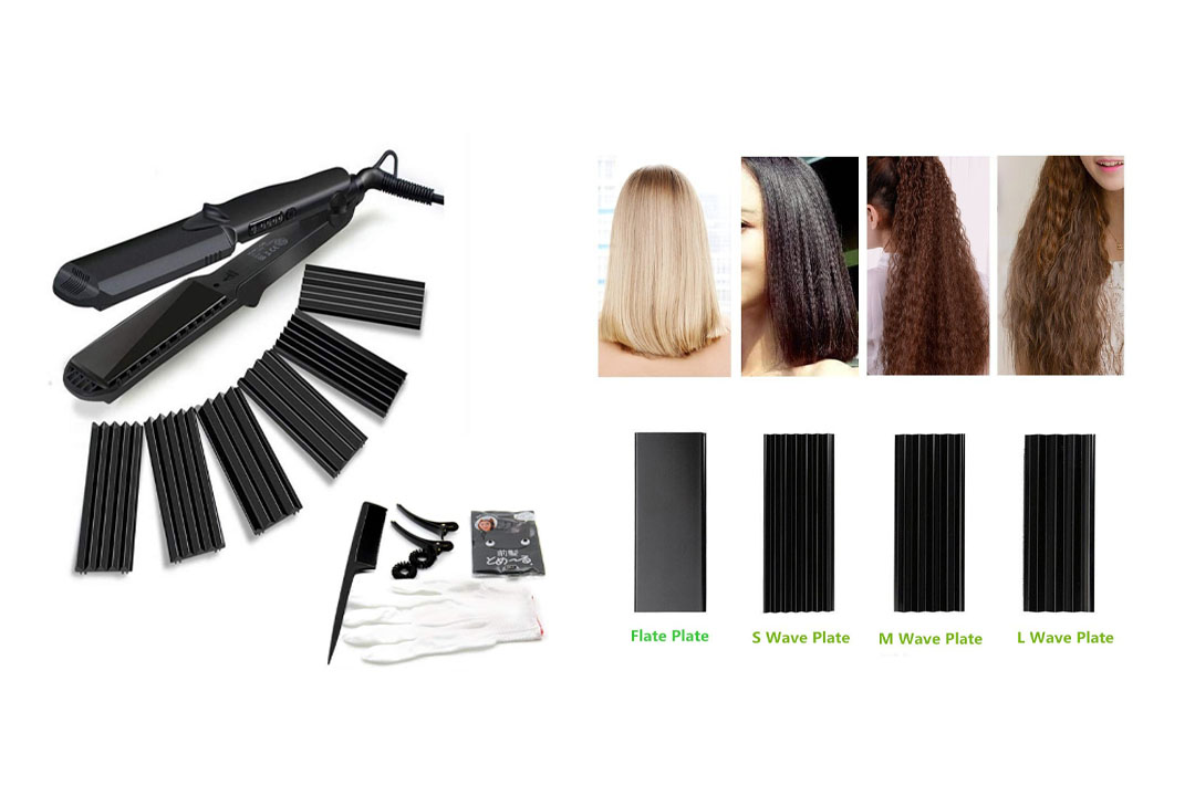 Accellorize Hair Curler Crimper Straightener with Flat Iron