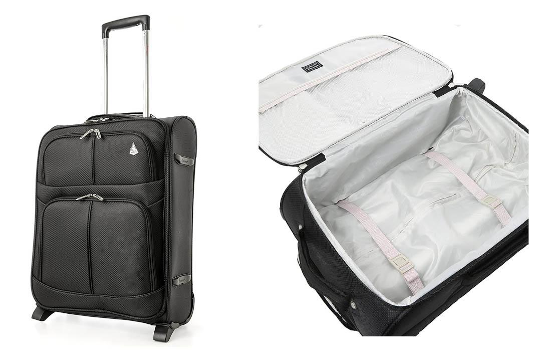 Aerolite Lightweight 2 Wheel Ryanair Max Cabin Hand Luggage