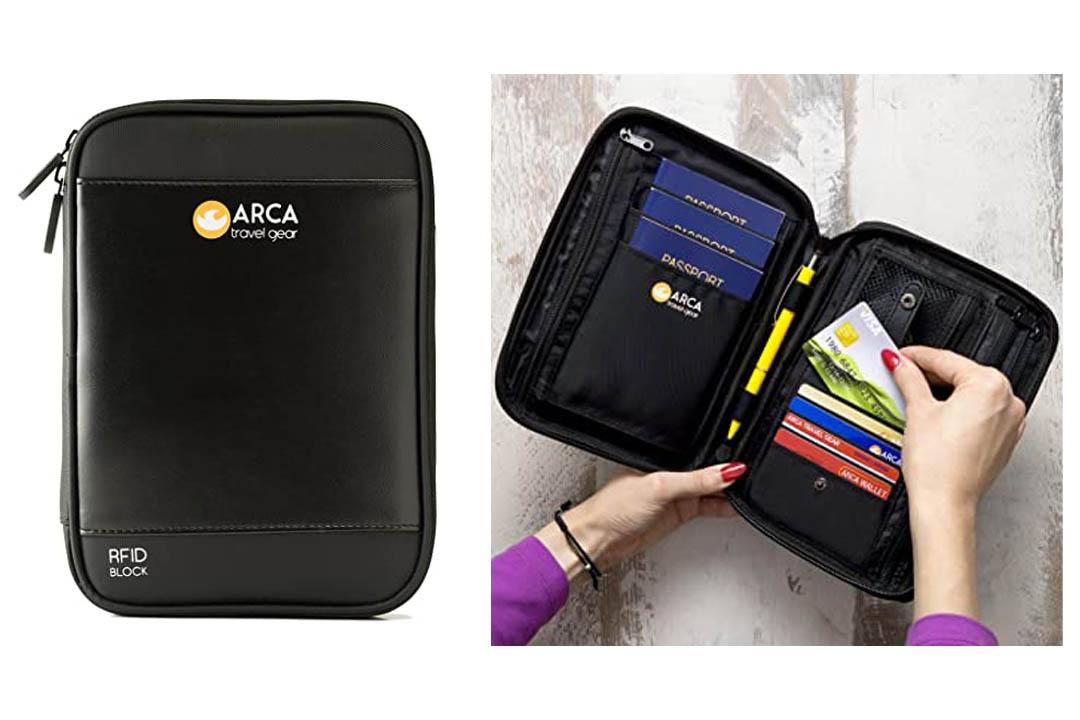 Arca Travel Gear passport holder & travel document organizer
