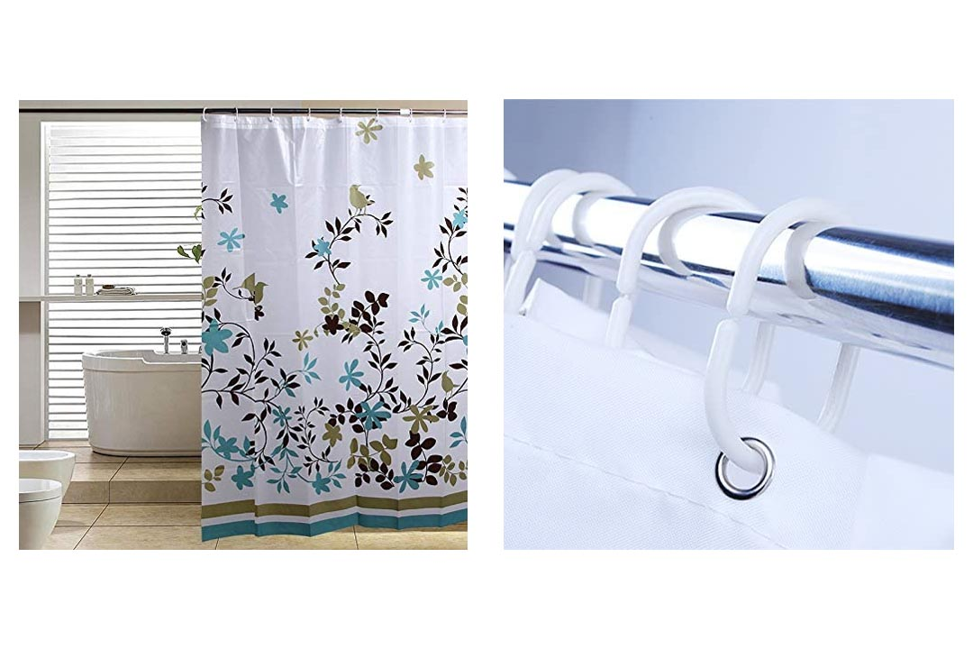 Blu-Pier Decorative PEVA Mildew Free Water Repellant Shower Curtain