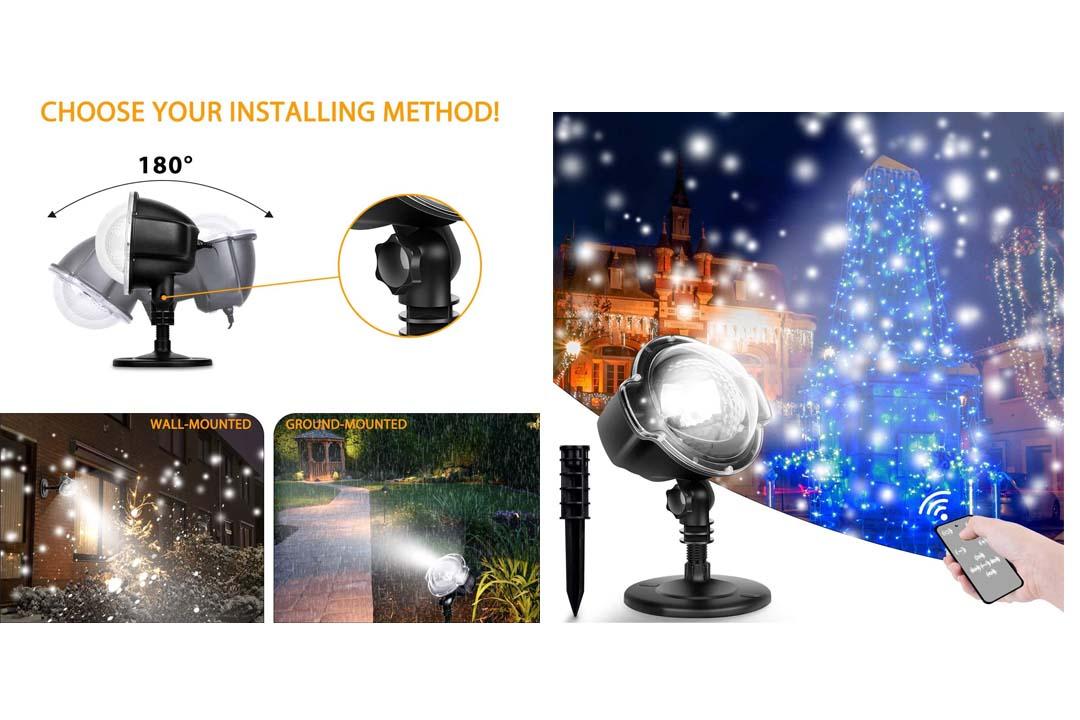 Christmas Snowflake Projector LED Lights