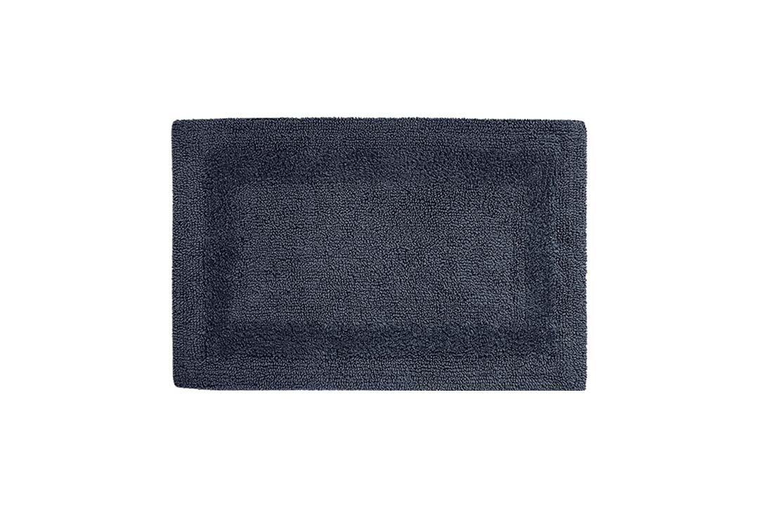 Cotton Craft 2 Piece Reversible Step Out Bath Mat Rug Set 17x24 Navy