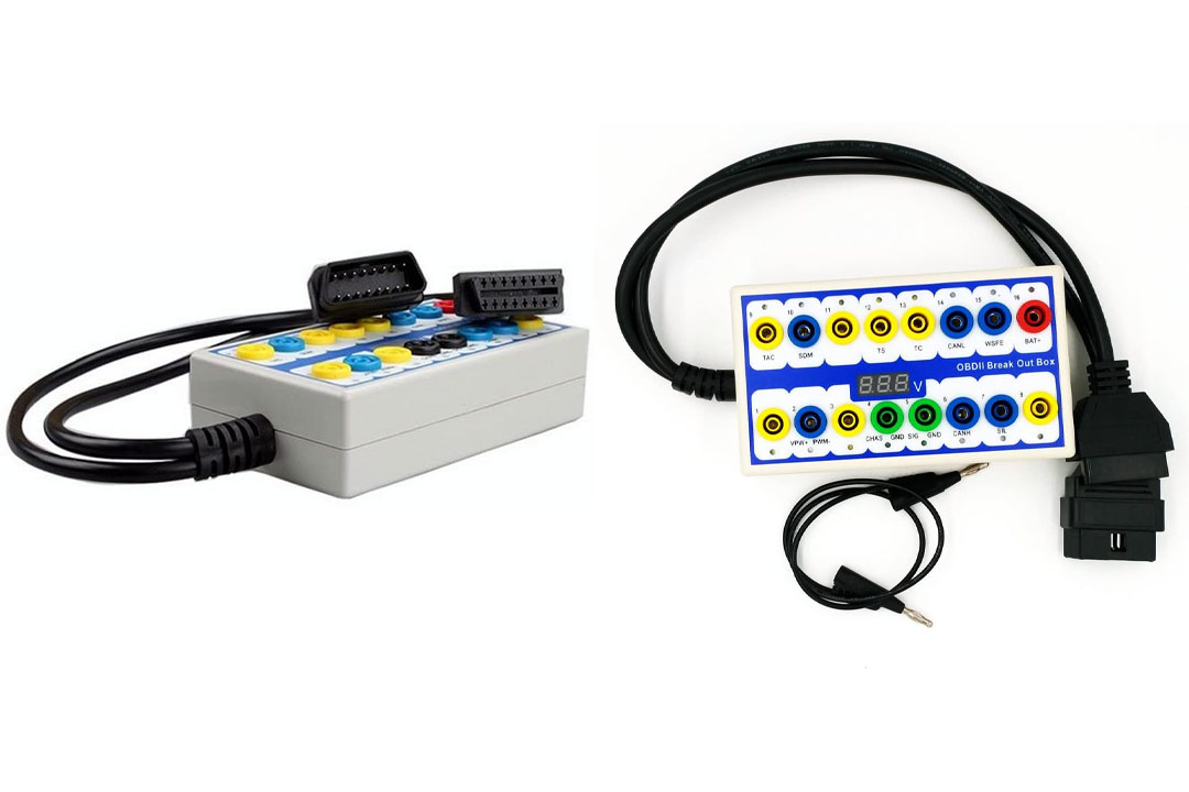 EXCOUP OBDII Protocol Detector and Breakout Box OBD Diagnostic tool