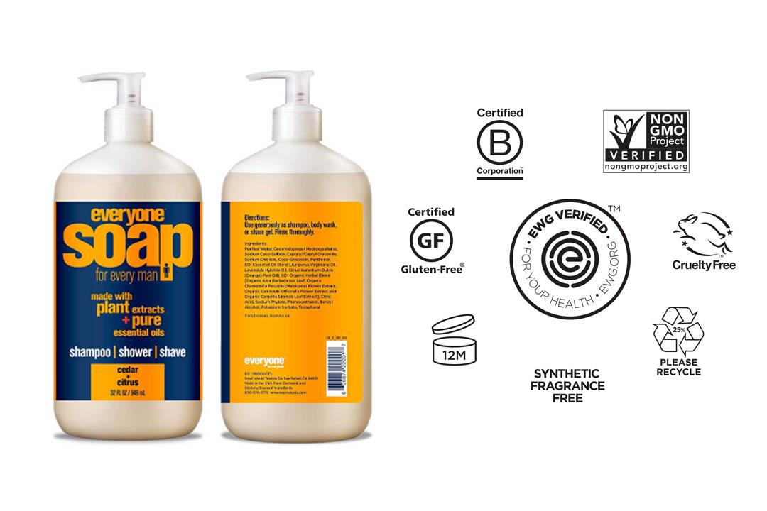 Everyone 3-in-Soap for Man, Cedar Citrus