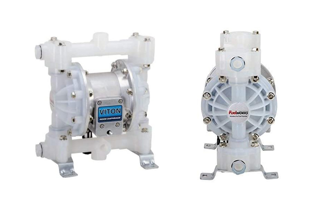FUELWORKS Heavy Duty Air-Operated Aluminum Diaphragm Pump