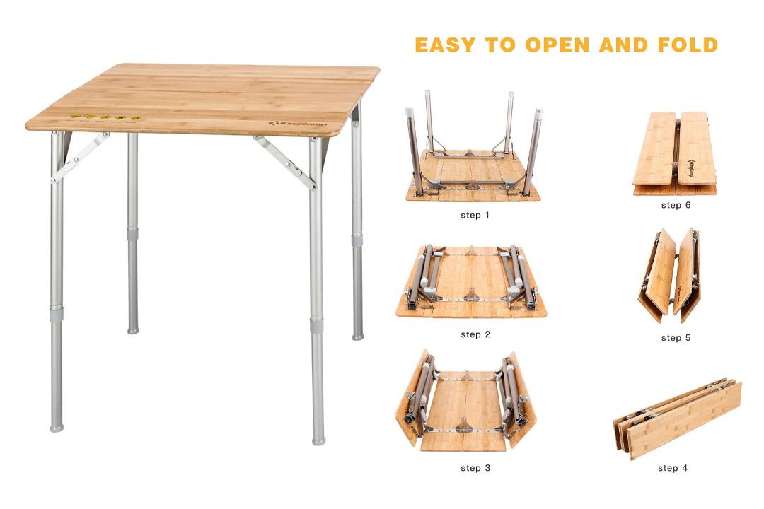 KingCamp 4-Fold Heavy Duty Adjustable Height Aluminum Frame