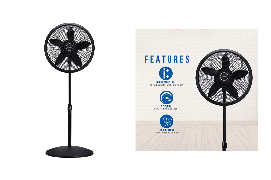 Lasko 1827 18″ Elegance & Performance Adjustable Pedestal Fan