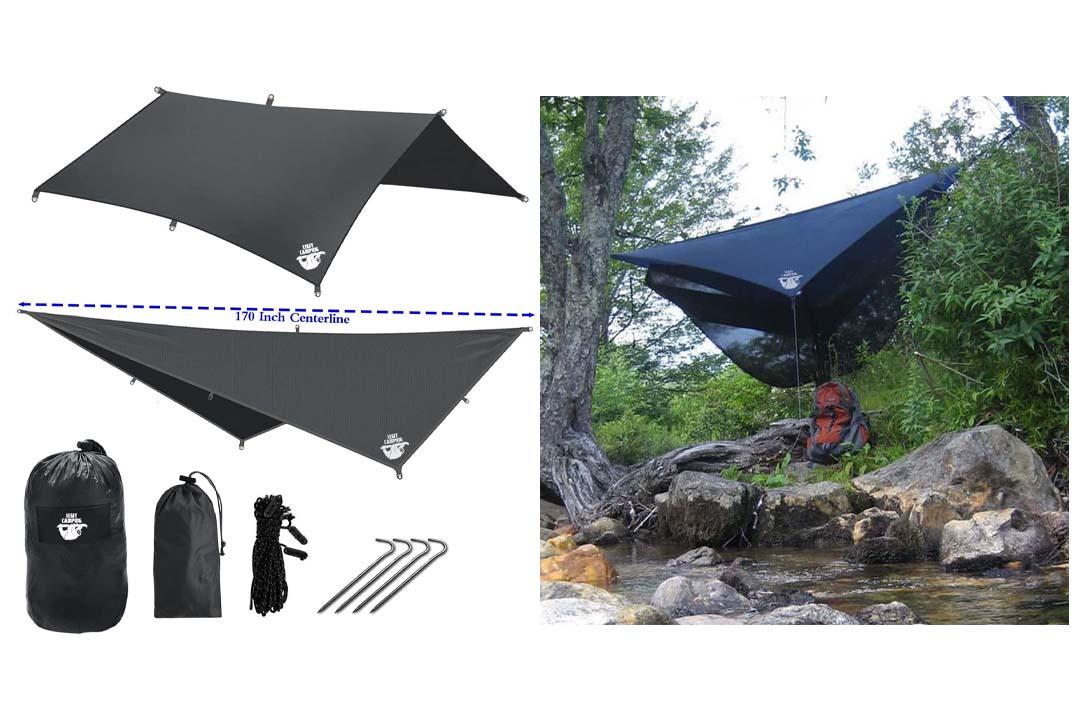 Legit Camping Rain Fly Camping Tarp Extra Large Hammock Tarp
