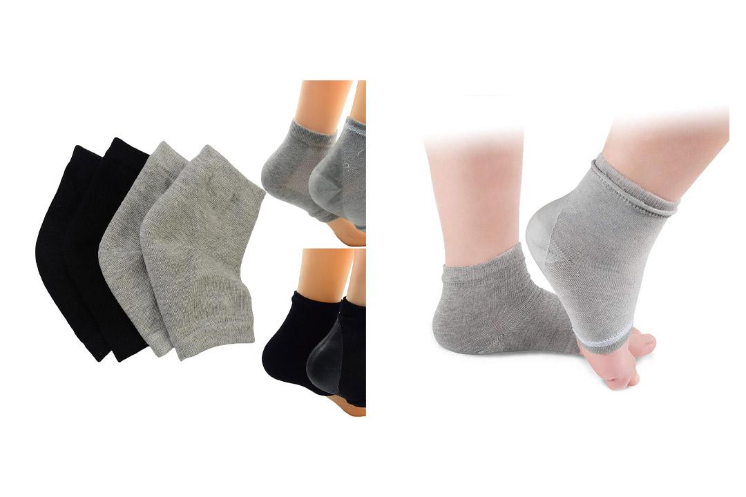 Makhry Moisturizing Silicone Gel Heel Socks
