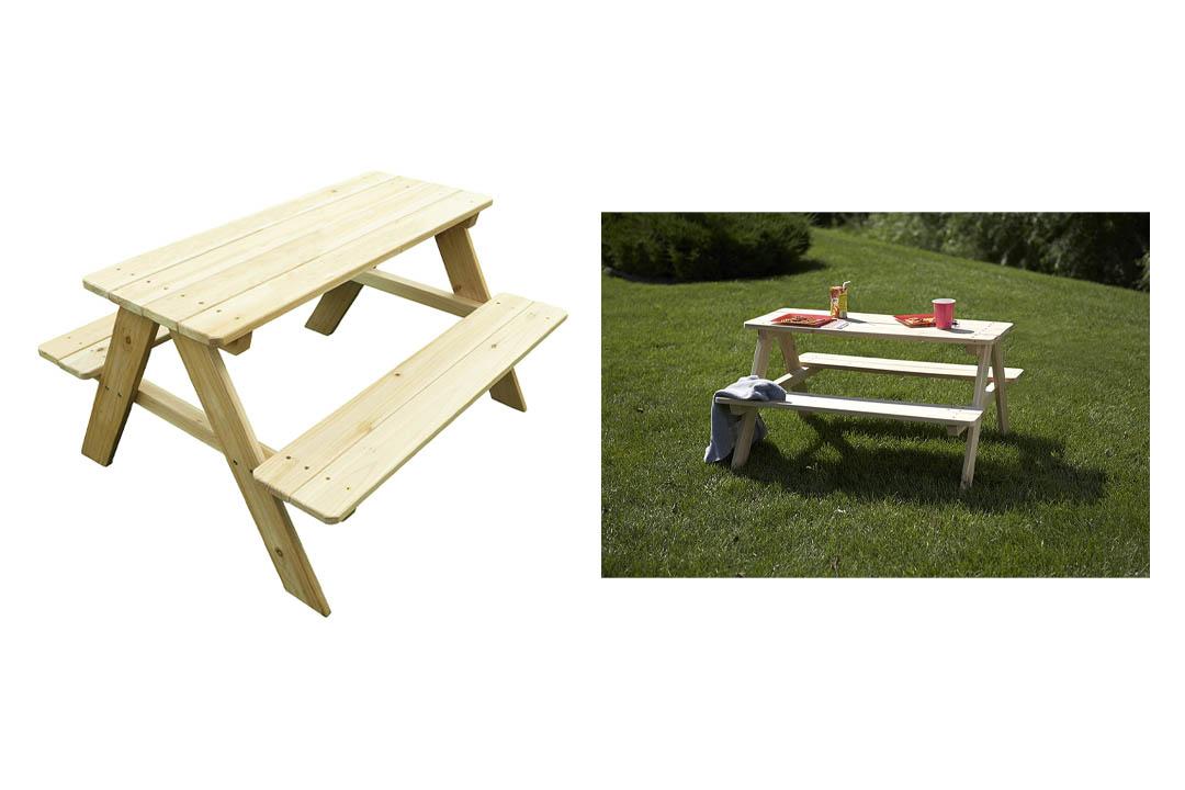 Merry Garden Kids Wooden Picnic Bench