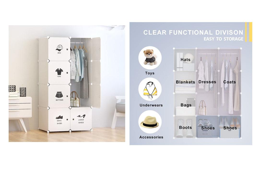 Portable Clothes Closet Wardrobe by Tespo