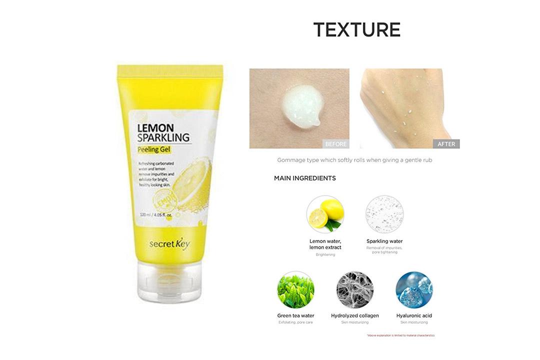 Secret Key Lemon Sparking Peeling Gel 120 ml, Korean Version, by LadyAda