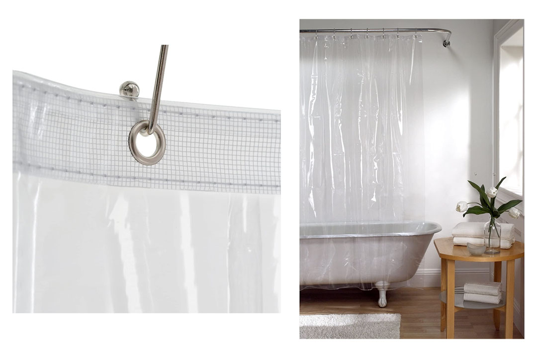 Shower Curtain with Proof Metal Grommets