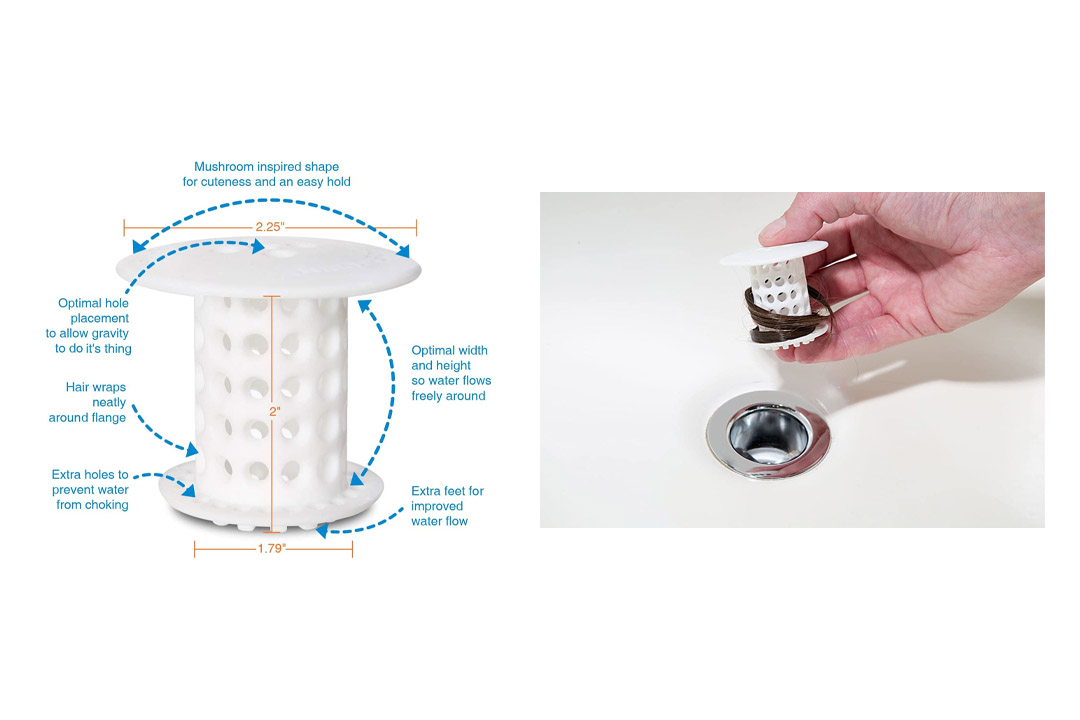 TubShroom the Revolutionary Shower Tub Drain Protector Hair Catcher