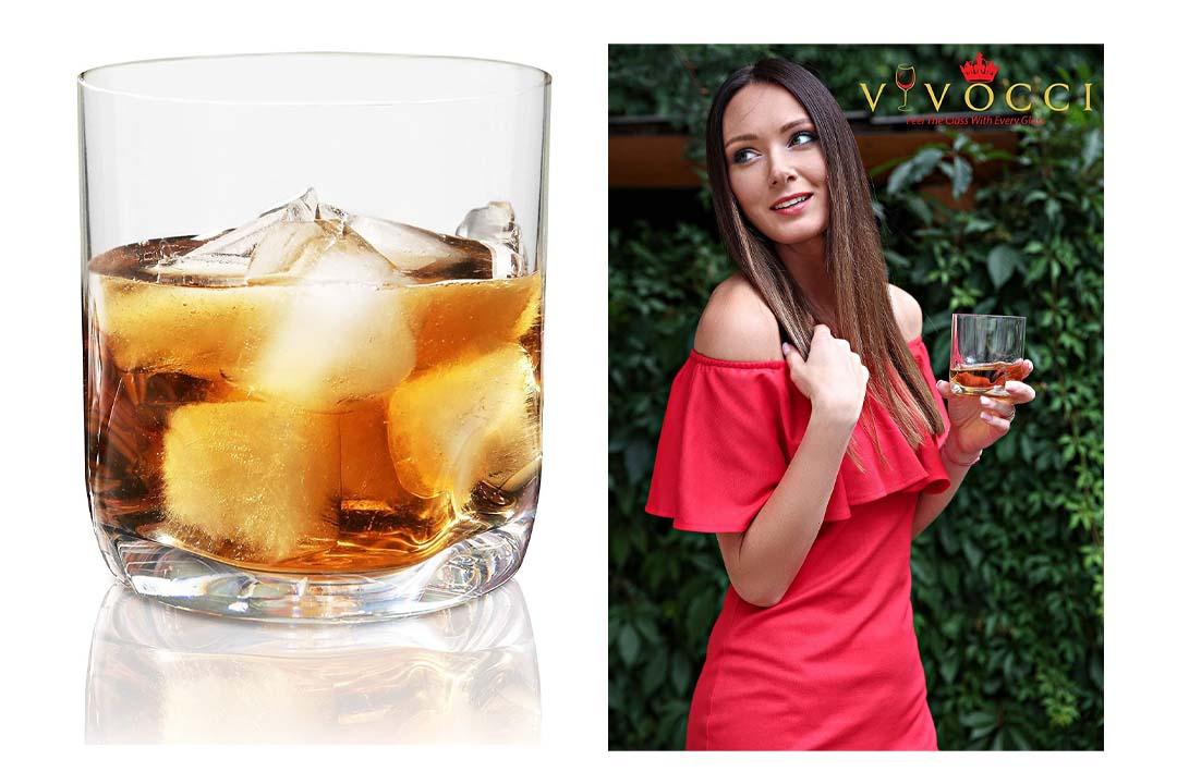 Vivocci Unbreakable Tritan Plastic Rocks 12.5 oz Whiskey