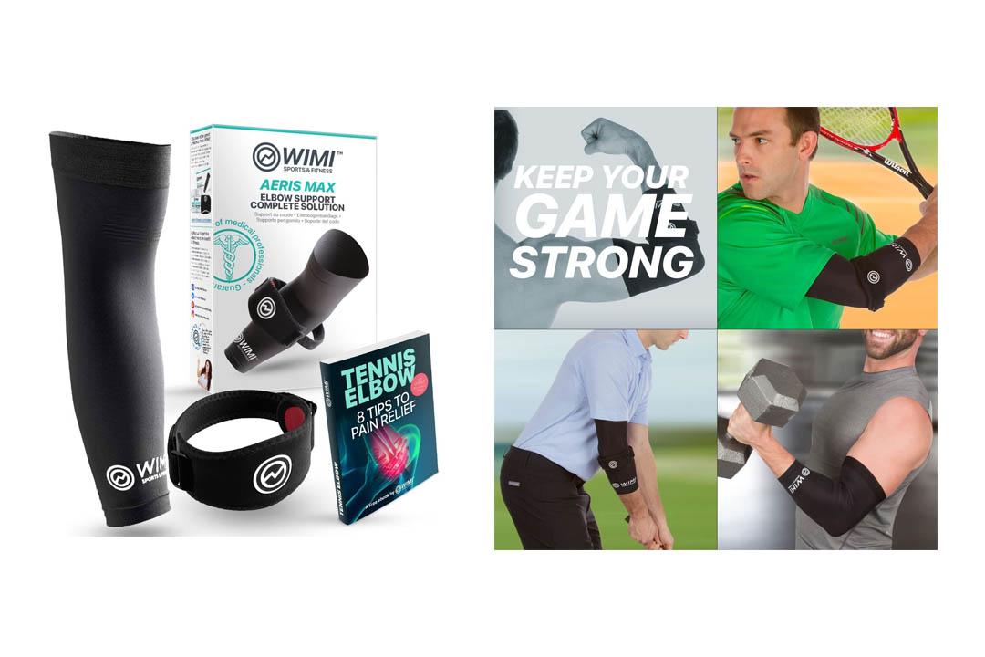 WIMI Sports & Fitness Arm 1 Tennis Elbow Brace & 1 Copper Compression Elbow Sleeve
